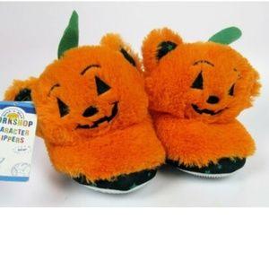 Boys Girls Build a Bear Halloween PUMPKIN Slippers